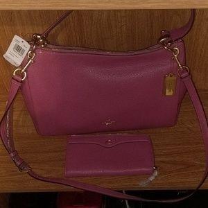 Coach F39310 🍓 L-Zip wallet pebble leather